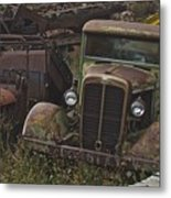 Old Car And Truck Metal Print