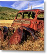 Old Car At Susanville Ranch Metal Print