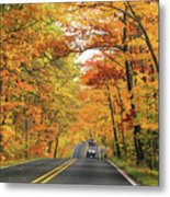 Old Car Tour To Copper Harbor Metal Print