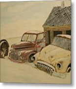 Old Cars Metal Print