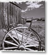 Old Cart And Building Bodie California Metal Print
