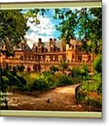 Old Castle - France H A With Decorative Ornate Printed  Frame  Metal Print