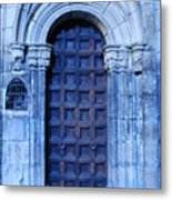 Old Cathedral Door In Barcelona Metal Print