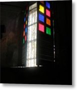 Old Catholic Church Window Metal Print