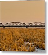 Old Cedar Road Bridge Metal Print