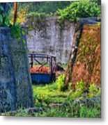 Old Cement Walls Metal Print