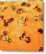 Old Charm Scooters Metal Print