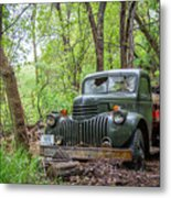 Old Chevy Oil Truck 1  Metal Print