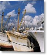 Old Chinese Fishing Boats Metal Print