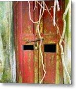 Old Chinese Village Door Eleven Metal Print