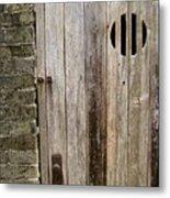 Old Chinese Village Door Series Fifteen Metal Print