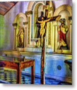 Old Church Altar Metal Print