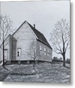 Old Church At Beatties  Ford Metal Print