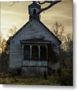 Old Church At Sunset Metal Print