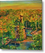 Old Church On The River Metal Print