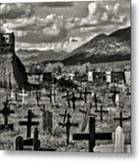 Old Church Taos Pueblo Metal Print by Lou  Novick