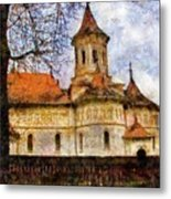 Old Church With Red Roof Metal Print