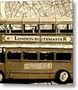 Old City Bus Tour Metal Print