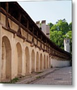 Old City Wall In St Alban Basel Switzerland Metal Print