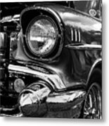 Old Classic Car In Black And White Metal Print