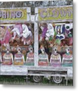 Old Clowns And Soft Toys By Kaye Menner Metal Print