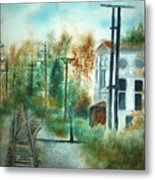 Old Cn Station Fort Langley Bc Metal Print