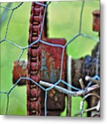 Old Cog Wheel Metal Print