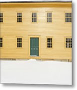 Old Colonial Era Period House In Winter Metal Print