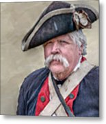 Old Colonial Soldier Portrait Metal Print