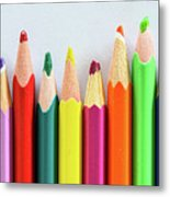 Old Colored Pencils Metal Print