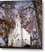 Old Country Church In Alabama Metal Print