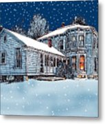 Old Country Home Metal Print