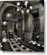 Old Courthouse Entryway Metal Print