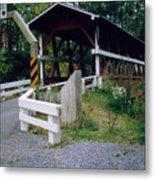 Old Covered Bridge In Pennsylvania  Metal Print
