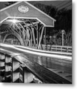 Old Covered Bridge  Metal Print