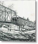 Old Covered Bridge Metal Print