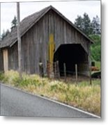 Old Cow Barn  Washington State Metal Print