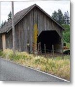 Old Cow Barn  Washington State Metal Print