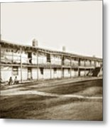 Old Cuartel. Mexican Soldiers Barracks Monterey Circa 1885 Metal Print