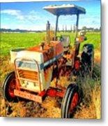 Old David Brown Tractor  Metal Print