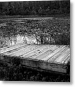 Old Dock At Dusk Metal Print