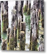Old Dock Remains Metal Print