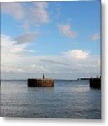 Old Docks Of Gasparilla Metal Print