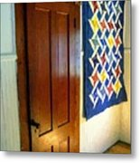 Old Door - New Quilt Metal Print