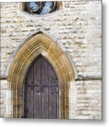 Old Door And Window York Metal Print