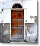 Old Door In Sorrento Metal Print