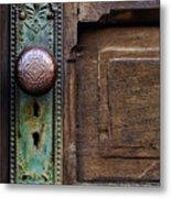 Old Door Knob Metal Print