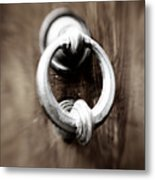 old Door Knocker Metal Print