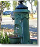 Old Drinking Fountain Metal Print