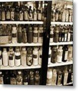Old Drug Store Goods Metal Print